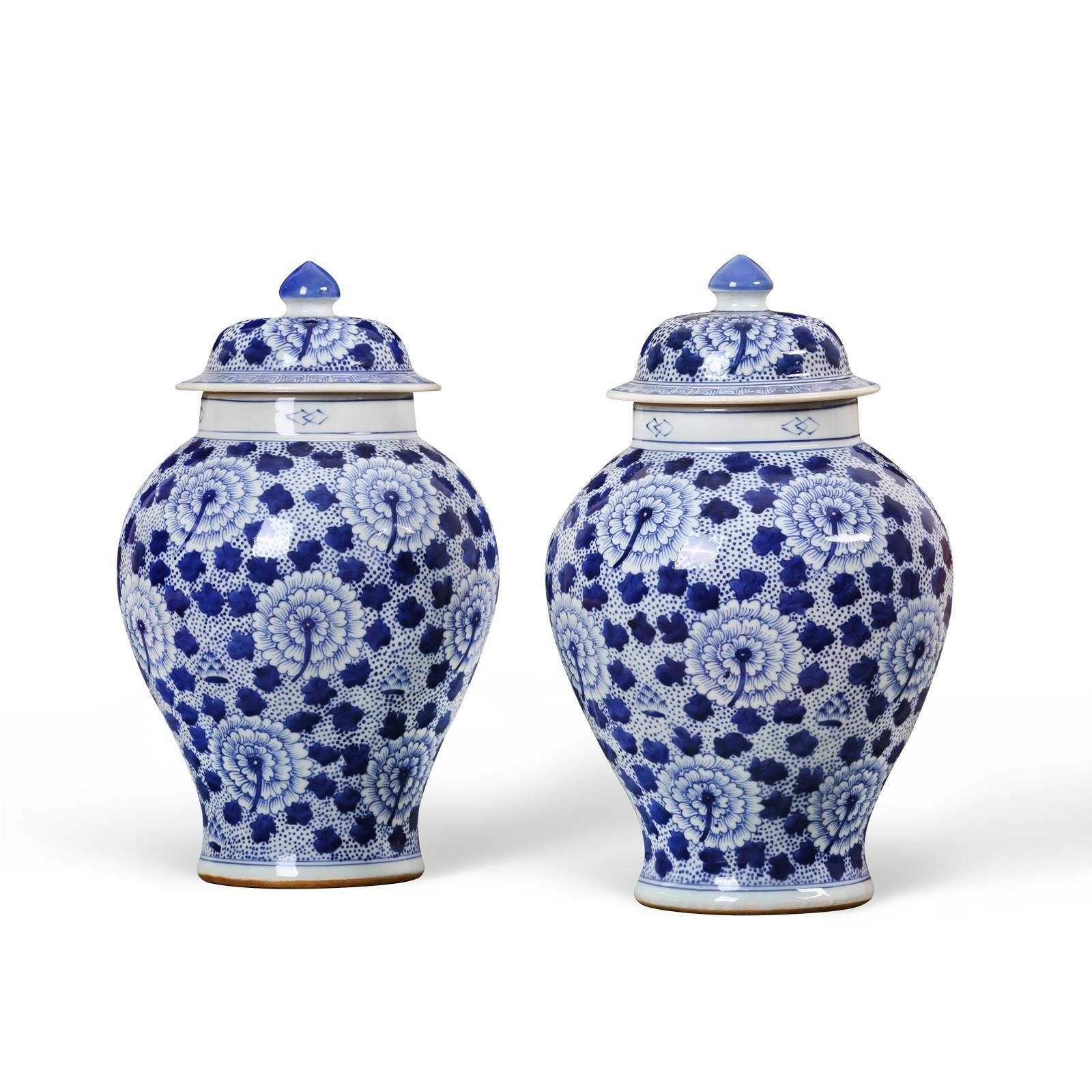 Bungalow 5 Temple jar, Blue and white, Blue