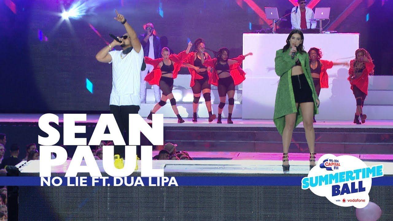 Sean Paul Ft Dua Lipa No Lie Live At Capital S Summertime Ball 2017 Sean Paul Lipa Dua Lipa Concert