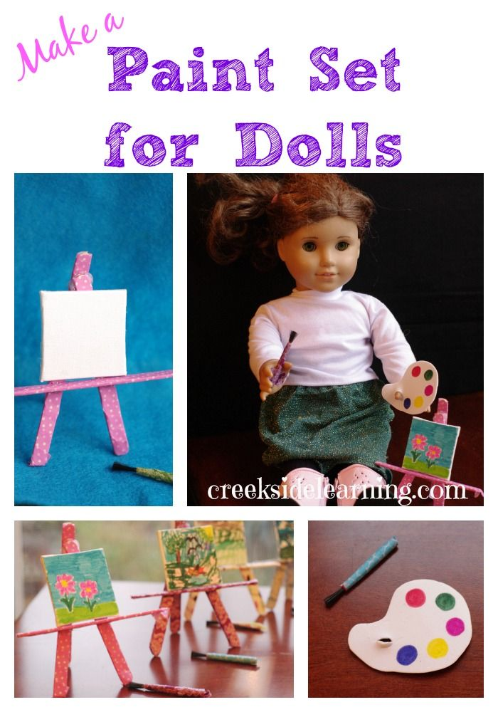 Book Club Craft:  Painting Set for Dolls for American Girl Saige   Creekside Learning