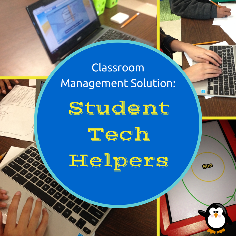 Student Tech Helpers-- Teach two students in each class how to troubleshoot common problems, so students can get help while you are working with a small group.