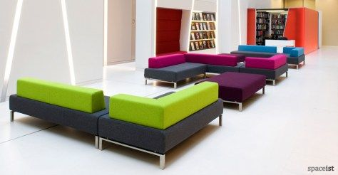 93 green and purple fabric reception sofas | office ...