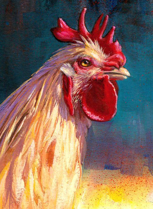 Chicken Painting : chicken, painting, Sieglinda, Shiew, Roosters, Rooster, Painting,, Chicken, Painting