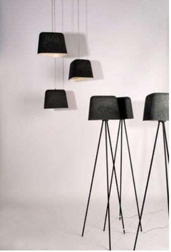 Tom Dixon Felt Shade Pendant And Floor Lighting Antique Lamp Shades Rustic Lamp Shades Table Lamp Shades