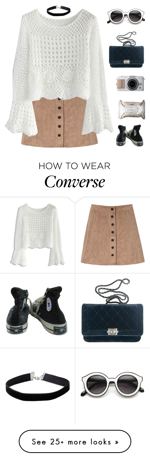 """""""you are limitless"""" by my-pink-wings on Polyvore featuring Glamorous, Chicwish, Chanel, Korres, Converse and Miss Selfridge"""