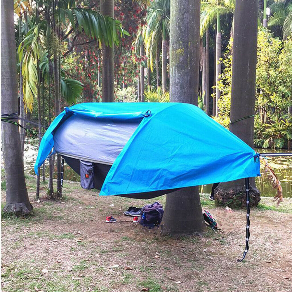 Details About Waterproof Camping Hammock With Mosquito Net Rainfly And Bag Blue In 2020 Hammock Camping Hammock Tent Hammock With Mosquito Net