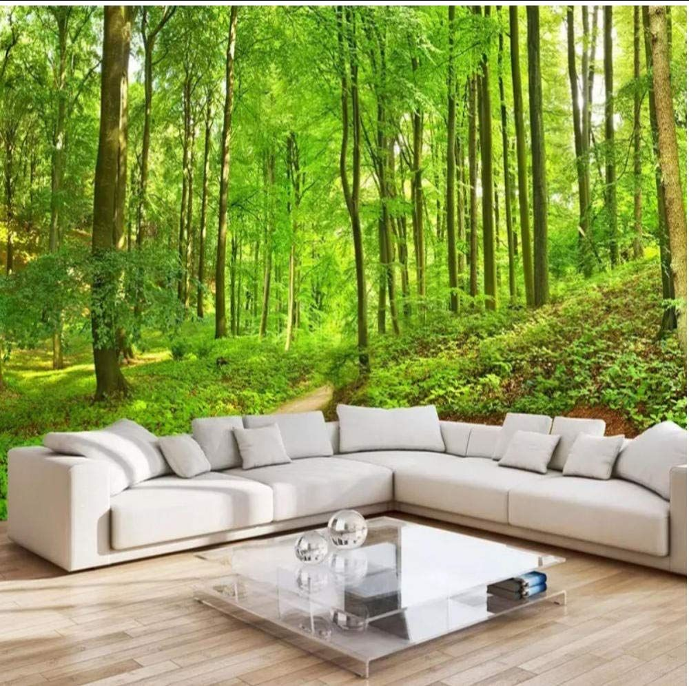 Custom Photo Wallpaper Bamboo Forest Art Wall Painting Living Room Tv Background Ebay Wall Painting Living Room Living Room Murals 3d Wallpaper For Walls
