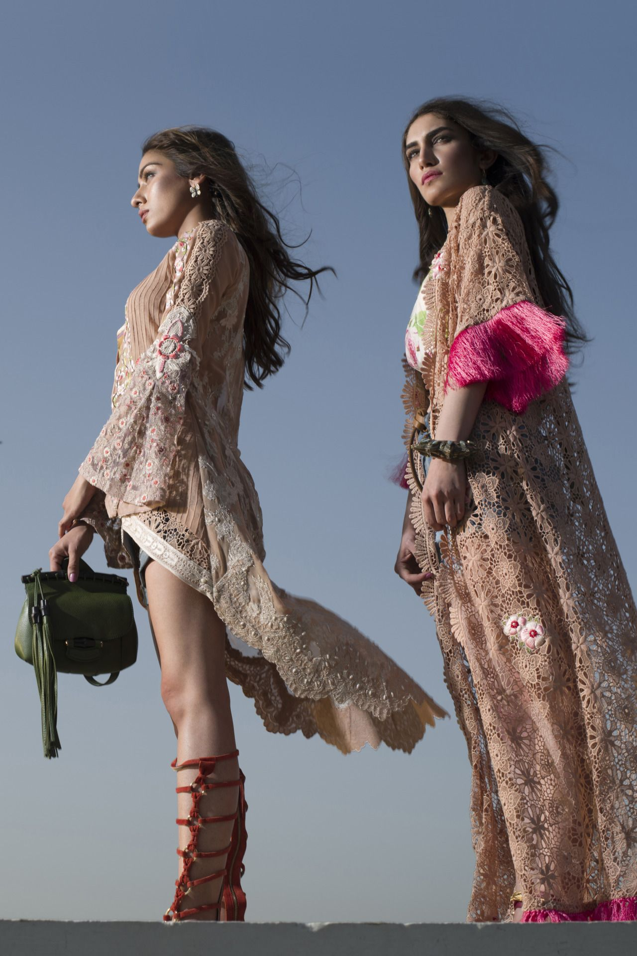 Noor Bhatti and Iman Madani for Layla Chatoor, Liberte S/S 2016 ...