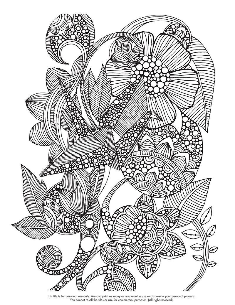instant download coloring page hand drawn by katslovekreations