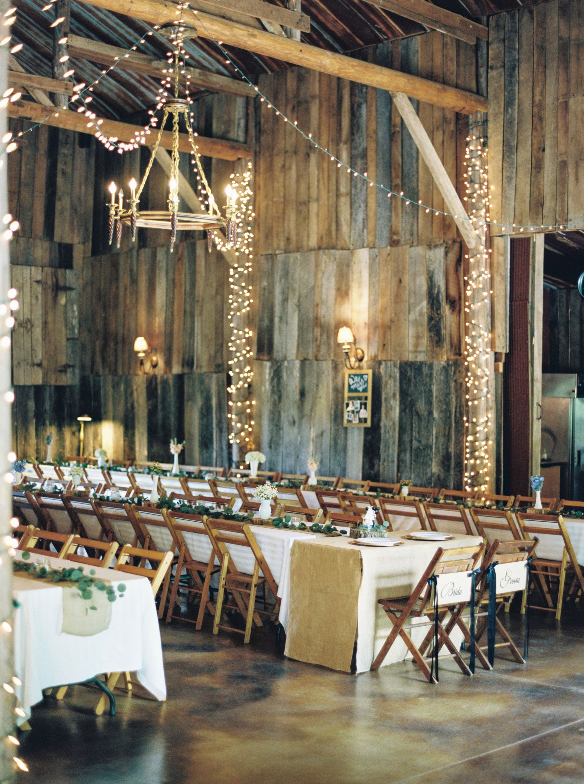 Rustic Wedding Reception Knoxville Twinkle Lights White Florals Loose Leaves Barn Jophot Tennessee Wedding Venues Tennessee Wedding Gatlinburg Weddings