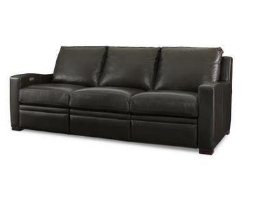 Century Furniture Leather Sofa With Motion Plr 7102m Ebony