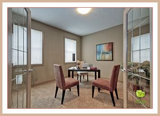 Large home office home staging ideas.