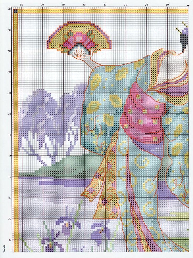 0 point de croix geisha au jardin et miniatures - cross stitch geisha garden and miniatures 1