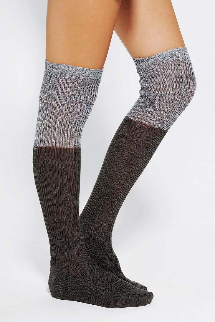 6b971b99cdf Urban Outfitters - Marled Scrunch-Cuff Over-The-Knee Sock. Fall time ...
