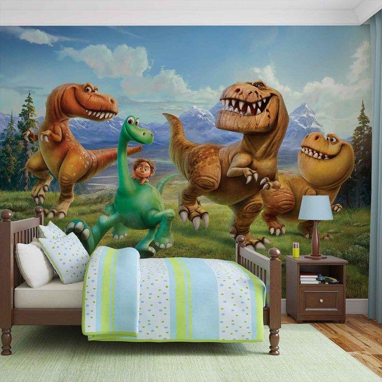 Dino art Transfert Chambre Garçons Décalcomanie Décor UK Dinosaure Wall Stickers Chambre Garçons