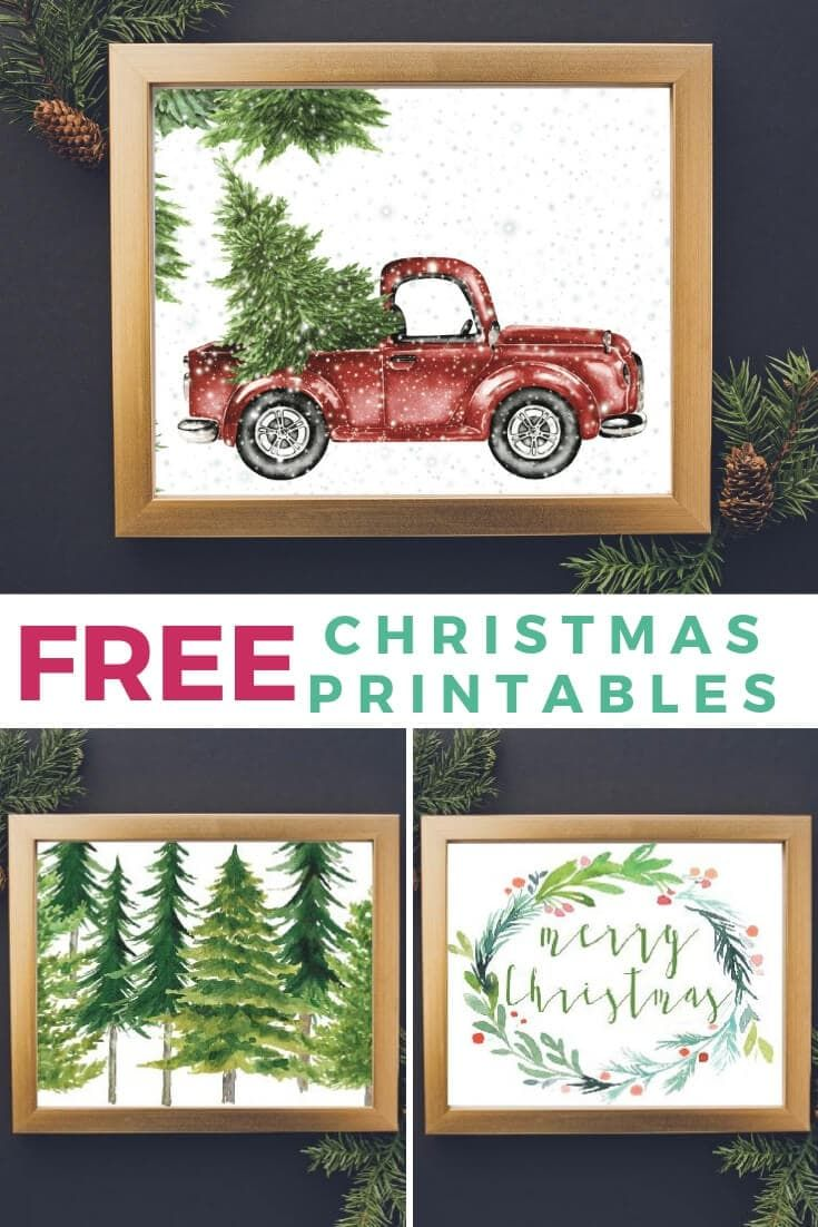 These FREE Christmas printables are the perfect way to add holiday cheer to your home without spending a dime! #christmasprintablesfree #freechristmasprintables #freechristmasprintablesvintage #christmasprintables #christmas #christmasprintablesart