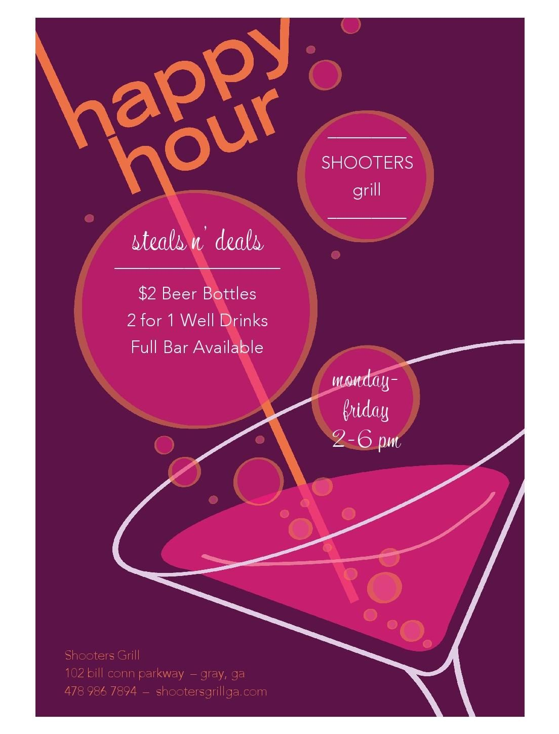 Shooters grill and bar happy hour specials deals pinterest shooters grill and bar happy hour specials maxwellsz