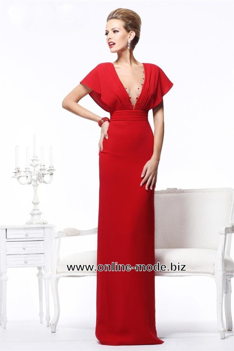 V Dekoltee Abend Kleid Online in Rot | Kleider für besondere Anlässe ...