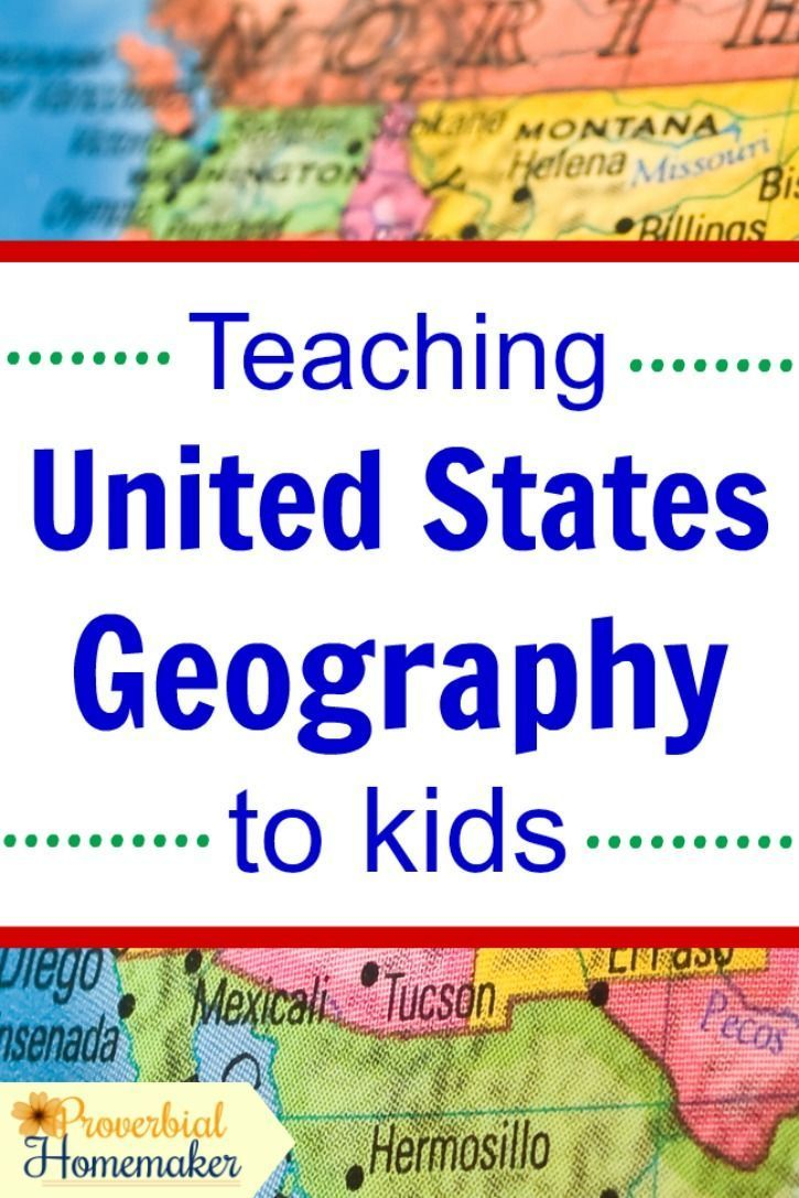 Teaching United States Geography to Kids