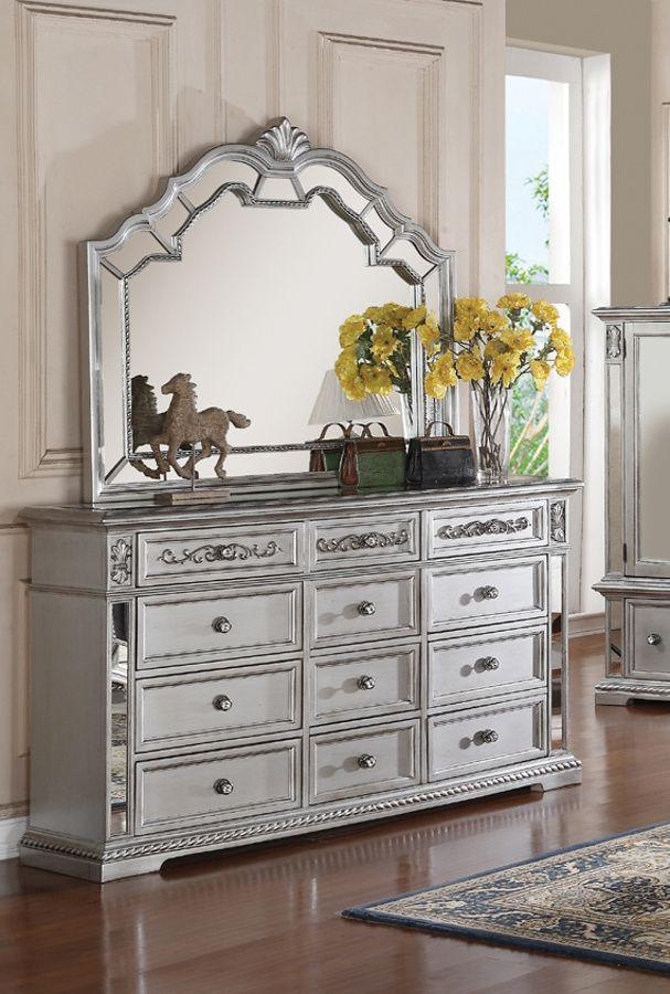 Pamela Silver Dresser And Mirror Interior Decorating Tips Silver Dresser Home Decor