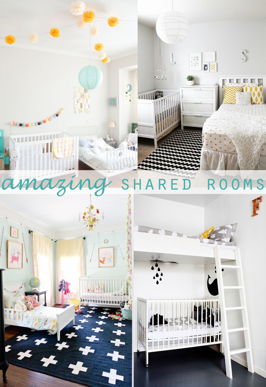 Shared Kids Rooms Making A Multiple Bed Layout Work Shared Kids - Shared bedroom ideas for mom and toddler