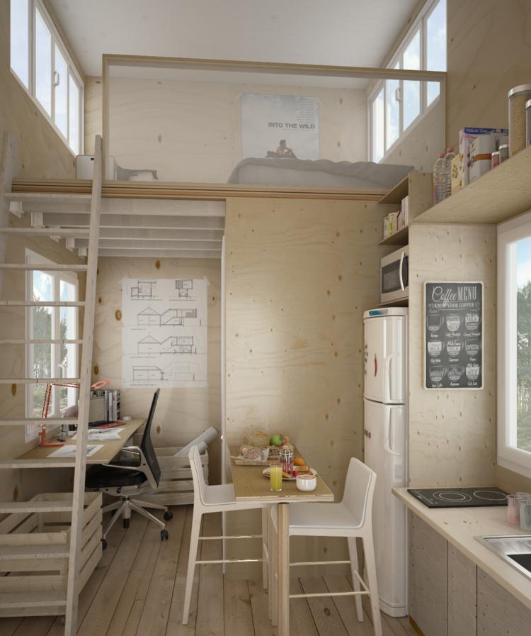 Mini Apartment Design Ideen Einen kleinen Raum