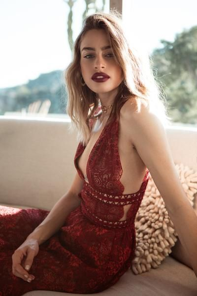 Mon cheri Midi Dress by for Love and Lemons