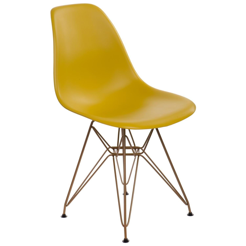 Krzeslo P016 Pp Gold Dark Olive In 2021 Eames Chair Chair Ol