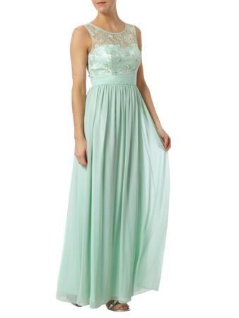 laona abendkleid mit oberteil aus floraler spitze in grün online kaufen 9439652  abendkleid