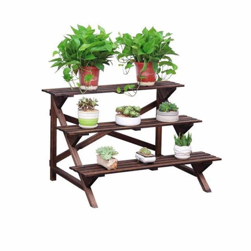 Buy Suporte Flores Etagere Plante Wood Indoor Varanda Table Garden