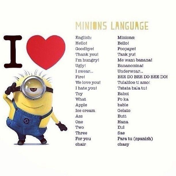 Minion Language....
