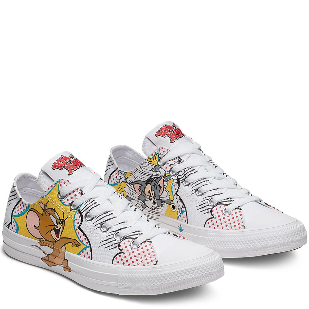 Tom and Jerry Chuck Taylor All Star Low Top WhiteMulti