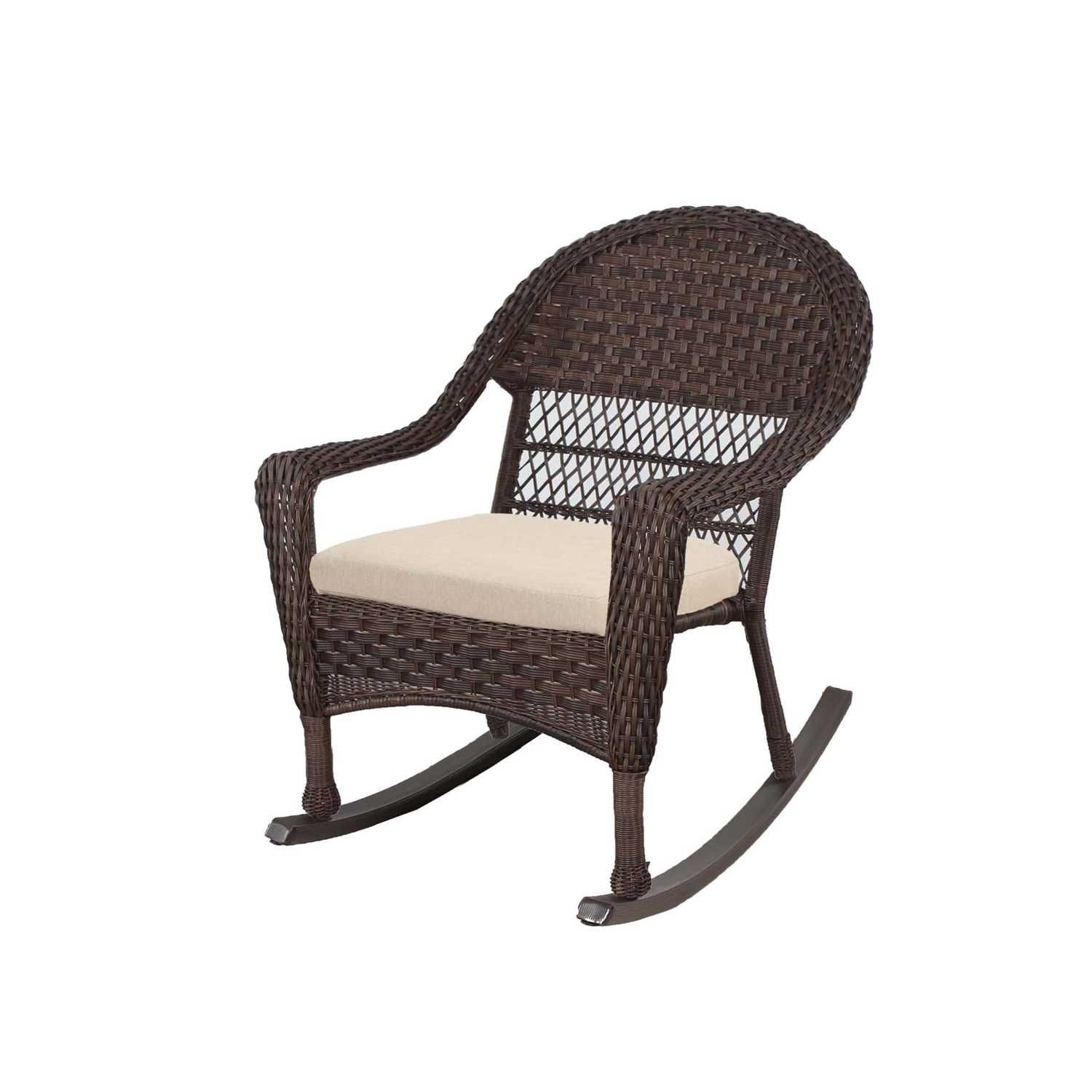 Living Accents 1 Brown Steel Prescott Rocker Chair - Ace ... on Living Accents Patio id=44178