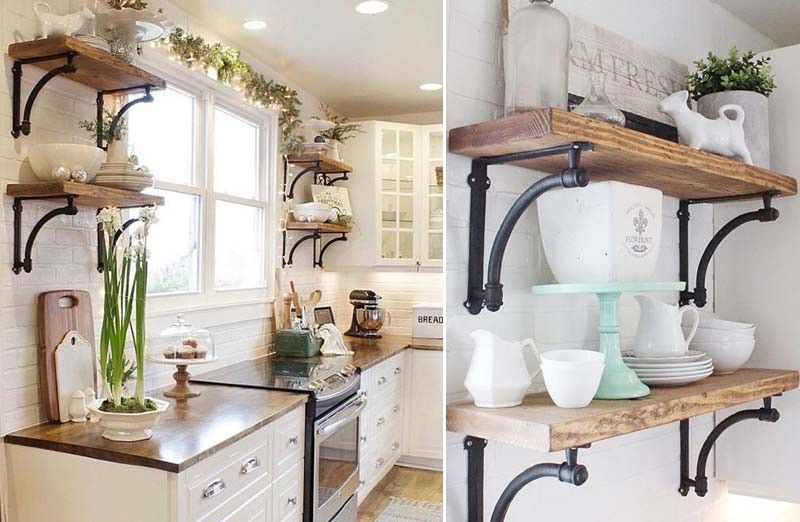 Cast iron shelf brackets set of 2 farmhouse shelves