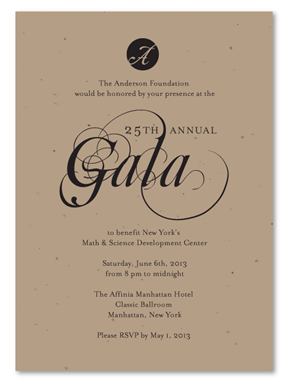 gala invitations fancy and green plantable gala ideas