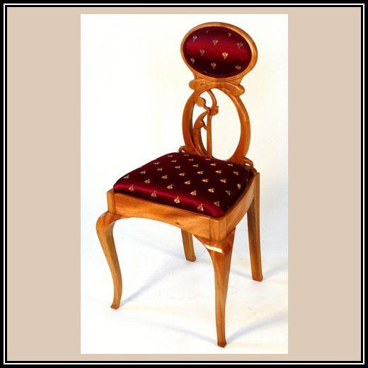 Mahogany Art Nouveau Chair | Heller And Heller Custom Furniture