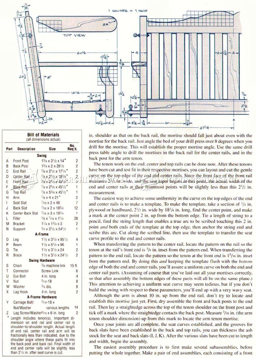 Porch Yard Swing Plans