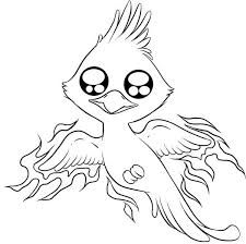 Phoenix Bird Bird Coloring Pages Chibi Chibi Characters