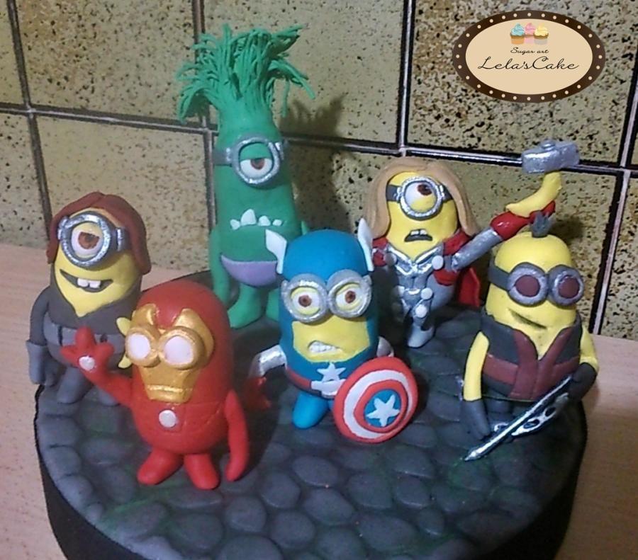 OKthis just cracks me up Minions Avengers Birthday