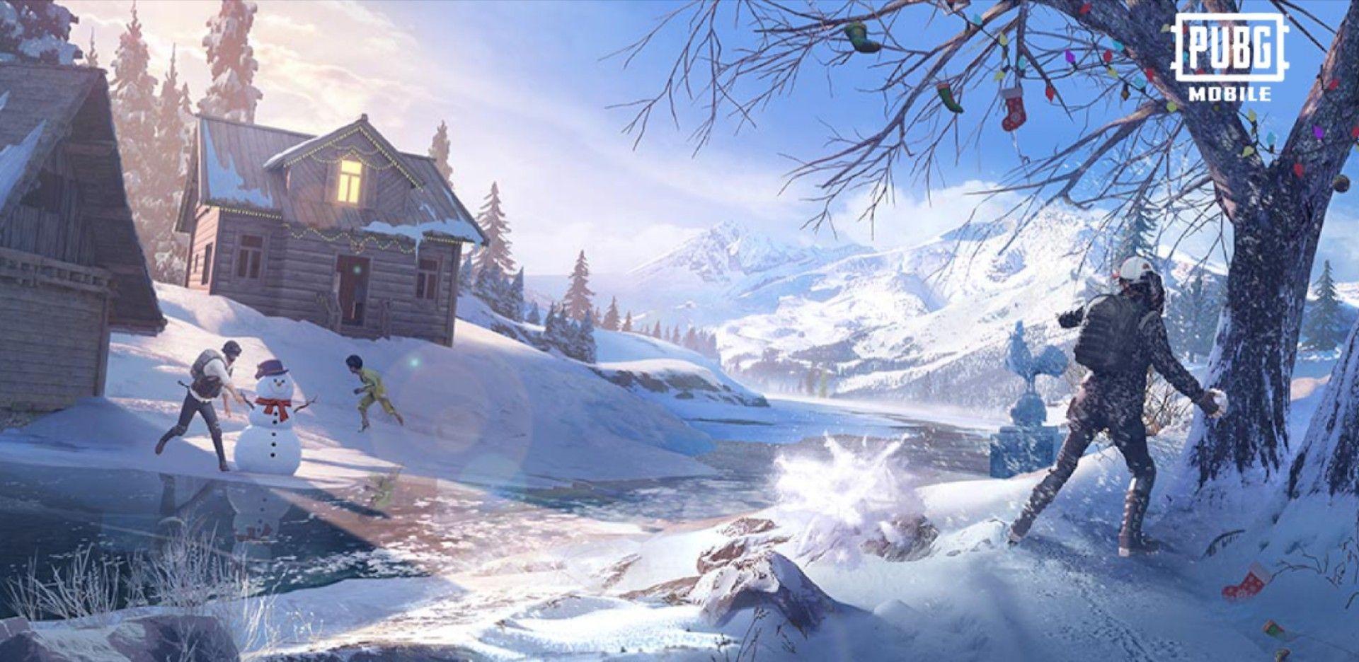 Pubg Wallpaper Pubg Mobile Season 16 Snow Winter Christmas Wallpa Instagram Christmas Wallpaper New Backgrounds