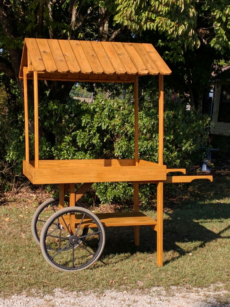 Homemade flower cart. You can build this for 40.00 and