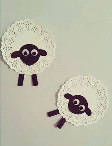 Cardboard And Clothespin Sheep Craft Foam Crafts Cotton Handprint Lamb Art Group Activity Marshmallow For Gift