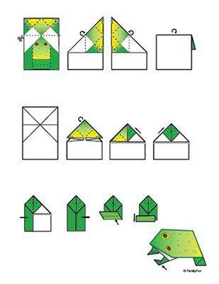 Kikker Kg Falten Pinterest Origami Frogs And Green Frog