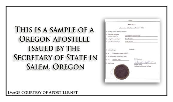 This is a sample of an Oregon birth Certificate acceptable for - background check form