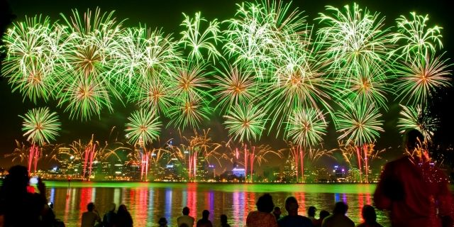 City Of Perth Skyworks And Laser Show Australia Day Western Australia Laser Show
