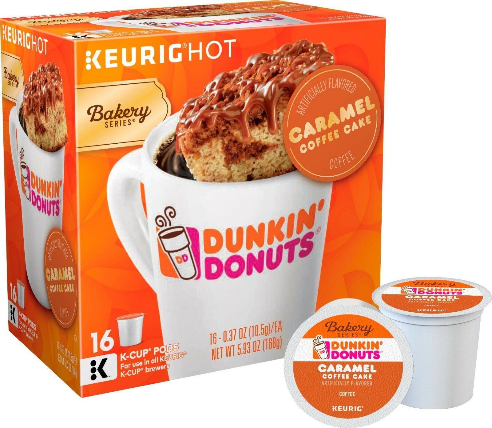 Dunkin Donuts Caramel Coffee Cake Coffee 16 to 96 Keurig K