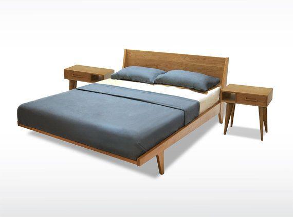 Best Modern Platform Bed Cherry Mid Century Modern Danish Solid 640 x 480