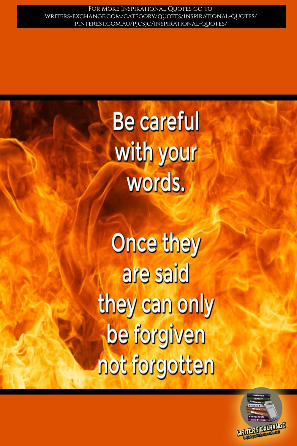 Be Careful with Your Words Inspirational Quote