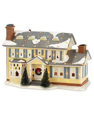 How To Store Christmas Village Houses.Snow Village National Lampoon S Christmas Vacation The