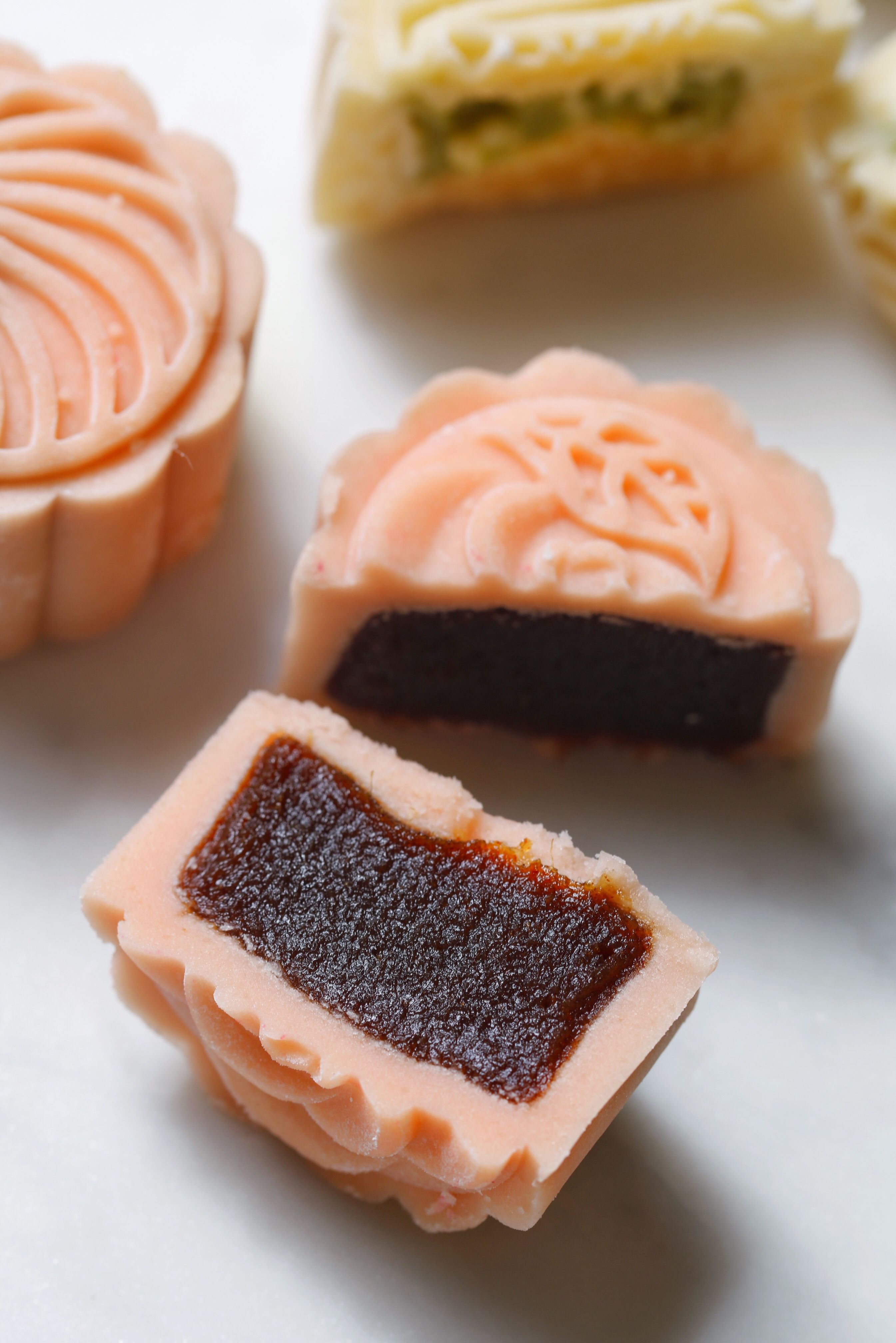 Mooncakes with sweet date filling in 2020 food moon