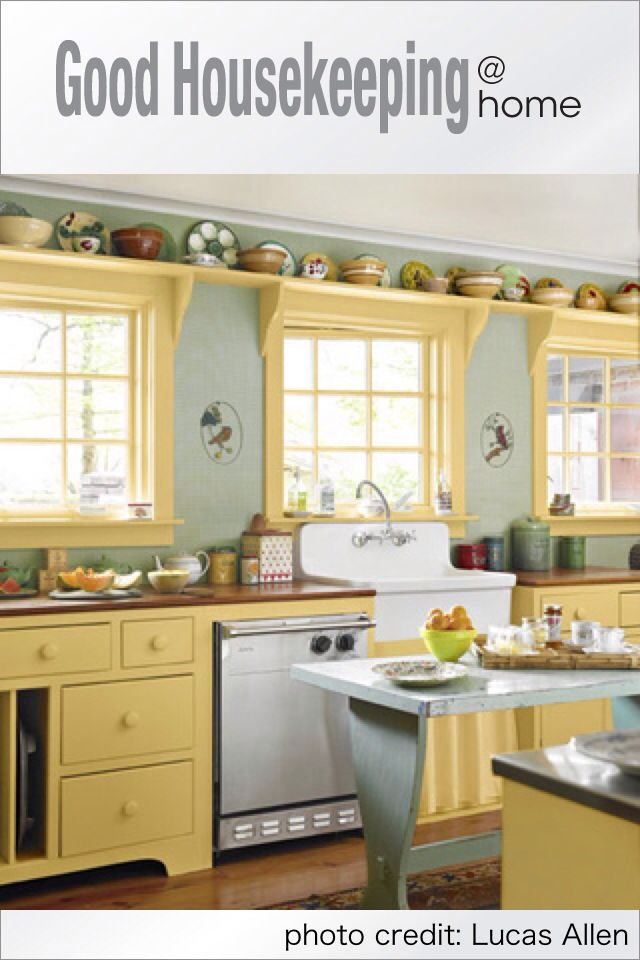 Cool yellow kitchen | Home Decor | Pinterest | Decoraciones de casa ...